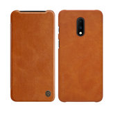 NILLKIN Qin Series Flip Card Slot Holder PU Leather Protective Case for OnePlus 7