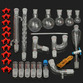 29Pcs / Set 24/29 Laboratory Glassware Kit 25/50/100/250 / 500mL Flask Lab Kemi Glas Ground Joint Distillation Separation