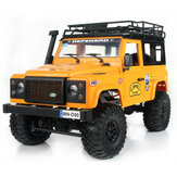 MN90 1/12 2.4G 4WD Rc Car W / Front LED Light 2 Body Shell Roof Rack Crawler Off-Road Truck RTR Toy