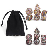 7pcs Polyhedral Dice for Dungeons and Dragons Party Game Toy With Bag