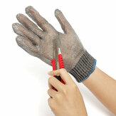 Corte de seguridad de arma blanca a prueba los guantes de carnicero malla metálica de acero inoxidable resistente