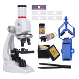 Simulation Science Education Experiment HD 1200x Biological Microscope With Phone Holder Toy Children's Microscope Set