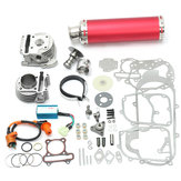 100cc 50mm Chinês Scooter Big Bore Exhaust Performance Kit Power Pack GY6 50cc