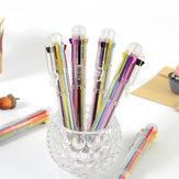 1 х Многоцветная шариковая ручка Многофункциональная ручка 8 в 1 Цветная прессованная шариковая ручка Ручка 0,5 мм Школа Поставка