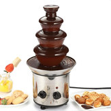 4 camadas de aço inoxidável Mini Chocolate Fondue Machine Cachoeira Chocolate derretendo Fountain Machine
