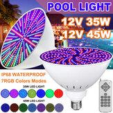 12V 45W / 35W E27 PAR56 RGB LED Glühlampe Schwimmbadleuchte für Pentair Hayward mit Fernbedienung