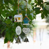 Ornaments Bird House Cage Home Ornament Wind Chimes Baby Children Gift Pastoral Hanging Home Decoration