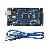 Geekcreit® MEGA 2560 R3 ATmega2560 Płytka rozwojowa MEGA2560 z kablem USB Geekcreit dla Arduino - produkty współpracujące z oficjalnymi płytami Arduino