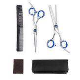Juego de peluquería profesional de 5 piezas Juego de salón fino de corte de cabello de peluquería de 7 pulgadas