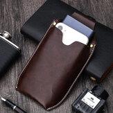Men Genuine Leather Reteo Phone Bag Waist Bag Belt Bag