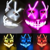 Halloween Ghost Slit Pleasure Light Light EL Line Maschera Fashion Maschera Abbigliamento Maschera Party