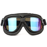 Motorcycle Goggles Scooter Helmet Leather Anti UV Fog Protector Glasses