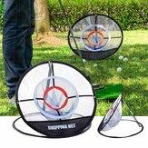 Rede de prática de lascar de golfe Rede de treinamento de golfe dobrável Rede de gaiolas de golfe com rede de relva