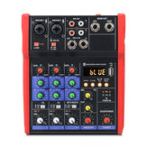 4 Channel USB bluetooth Audio Mixer Mixing Console Sound Card Karaoke KTV Stereo Stage Live Studio Home Music Mixer DJ