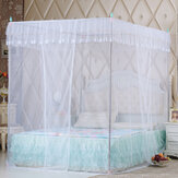 Lace Bed Netting Canopy Anti-Mosquito Net Four Corner Post Queen King Sizes for Bathroom Textile
