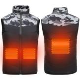 Chaleco térmico eléctrico para niños y niños, chaqueta cálida de invierno USB al aire libre, ropa inteligente, abrigos de algodón sin mangas
