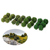 12Pcs Simulation Bush Tree Scene Model Mini Landscape Railway Scale Model Tree Sand Table Decorations