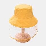 Dzieci / Małe dzieci (3-8 lat) Jednokolorowa, pyłoszczelna dziecięca czapka z daszkiem Zdejmowana czapka z ekranem na twarz