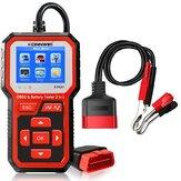 KONNWEI KW681 Car Bateria Testador OBD2 Diagnóstico Scanner 2 em 1 Leitor de código DTC Teste de acionamento do motor para motocicleta 6-12V
