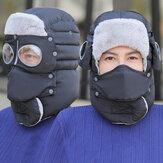 BICICLETA Térmico Fleece Balaclava Chapéus com capuz à prova de vento pescoço aquecedor Goggle Face à prova de poeira Máscara Bicicleta de inverno Capacete de ciclismo