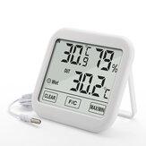 KIMTOKA TH036 - Higrômetro digital doméstico Termômetro com sonda Temperatura interna e umidade eletrônica Sensor