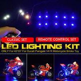 DIY LED kit de iluminação de luz apenas para lego 42107 para ducati panigale V4 r brinquedo da motocicleta tijolos