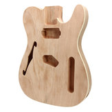 DIY Elektrische Gitaar Mahonie Houten Body Telecaster Thinline Style Body Part Single F Hole