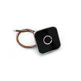 R502-AW Módulo de leitor de impressão digital capacitivo Sensor Scanner Liga de zinco Anel redondo LED Controle DC3.3V