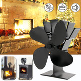 IPRee® 8.8inch 4 Blades Fireplace Fan Wood Burner Fan Winter Thermal Heat Power Fan Eco Friendly Quiet