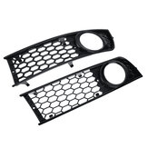 Honeycomb Hex Mesh Frnot Fog Light Open Vent Grill Grille For AUDI A4 B6 2001-2005
