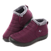 LOSTISY Waterproof Warm Lining Winter Snow Ankle Casual Women Boots