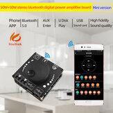 XY-AP50L 50WX2 Mini bluetooth 5.0 Bezprzewodowa moc dźwięku Wzmacniacz cyfrowy Wzmacniacz stereo 3.5MM AUX USB APP