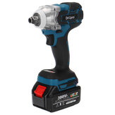 Drillpro 520N.m Electric Cordless Brushless Impact Wrench Riveter Drill Driver Kit W/ 1pc Battery For Makita