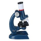 Conjunto de laboratório de ciências para crianças com microscópio júnior com kit de brinquedos para crianças leves