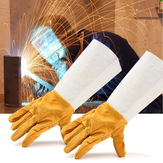 Soldering Welding Work Soft Cowhide Leather Plus Gloves