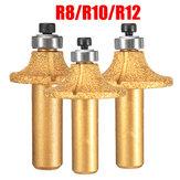 ダイヤモンドストーンマーブル研削刃ルータビット1/2インチシャンクR8 / R10 / R12木工カッターツール