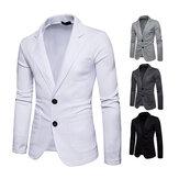 男性用スタイリッシュ2ボタンカジュアルスーツジャケット
