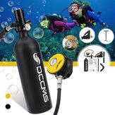 DCCMS 1L ensemble de réservoir de plongée sous-marine réservoir d'air pompe à main soupape de respiration piscine extérieure plongée en apnée équipement de plongée