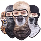 Face Mask 3D Animal Balaclava Neck Hood Hat For Motorcycle Cycling Christmas Halloween Party Prom