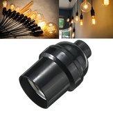 E27 / e26 lâmpada suporte da lâmpada pendant edison tampa de rosca tomada 4a preto do vintage