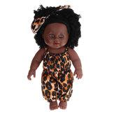 12インチシミュレーションSoftシリコーンビニールPVCブラックベビーファッション人形回転360°アフリカの女の子完璧なリボーン人形のおもちゃ誕生日プレゼント