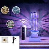 70W UV Lâmpada de desinfecção Ultravioleta E27 LED Lâmpada Iluminação interna + Controle Remoto + Base + Linha de cabo AC110-240V