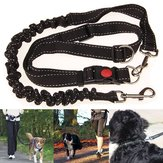 Black Adjustable Handsfree Elastic Pet Cachorro Corrida de corrida Running Jogging Cinto Leash