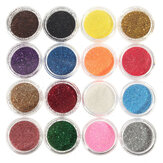 16 Färger Ögonskugga Pigment Glitter Pulver Spangle Set Nail Art Decoration DIY Bling Party Shimmer Makeup