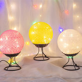 LED Linen Rattan Ball Light USB Creative Romantic Night Lamp