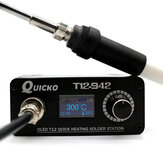 Quicko T12-942 MINI OLED Digital Soldering Station T12-907 Handle with T12-K Iron Tips Welding Tool