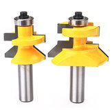 Drillpro RB34 1/2 Inch Shank Matched Tongue Groove V-notch Router Bit