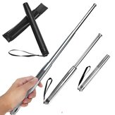 Telescopic Steel Stick Rod Safe Walking Security Emergency Portable 3 Sections Rod