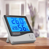 Indoor Digital Thermo-hygrometer LCD Temperature Humidity Weather Alarm Clock