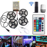 4 STKS 5 M Niet-waterdichte SMD2835 RGB Alexa APP Home Wifi Controle Smart LED Strip Licht Kit AC110-240V